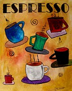Espresso Paintings - Espresso by Gino Savarino
