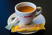 Biscotti Photos - Espresso by Inge Johnsson