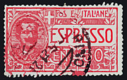 Italian Kitchen Posters - Espresso Italiano Vintage Postage Stamp Poster by Andy Prendy