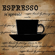 Italian Kitchen Digital Art Posters - Espresso Madness Poster by Lourry Legarde
