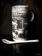 Coffee Mug Pyrography Prints - Espresso Print by Sheena Pike