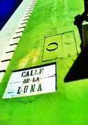 Old San Juan Digital Art Prints - Esquina con La Luna Print by Olivier Calas