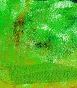 Emerald Green Abstract Paintings - Essay Star Emerald Green by L J Smith