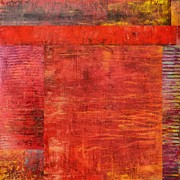 Layered Prints - Essence of Red Print by Michelle Calkins