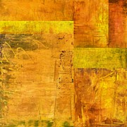 Abstracted Digital Art Prints - Essence of Yellow Print by Michelle Calkins