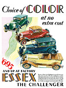 Oldtimers Prints - Essex Challenger Vintage Poster Print by World Art Prints And Designs