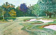 Golf Pastels Posters - Essex Golf Course in Canada Poster by Frank Giordano