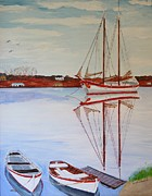 Bill Hubbard - Essex Harbor Reflections