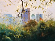 Park Scene Paintings - Essex House by Daniel Dayley