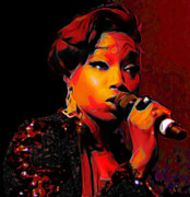 Microphone Digital Art Prints - Estelle Print by Byron Fli Walker