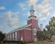 Seminary Paintings - Estes Chapel at Asbury Seminary by Wade Powell