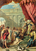 Famous Artists - Esther before Ahasuerus by Sebastiano Ricci
