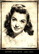 Award Drawings Prints - Esther Williams Print by George Rossidis