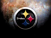 Pittsburgh Steelers Mixed Media Posters - Etched in Steele Poster by DJ Fessenden