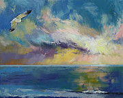 Seagull Paintings - Eternal Light by Michael Creese