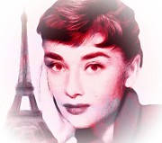 Audrey Hepburn Paintings - Eternal Love 2 by Stefan Kuhn