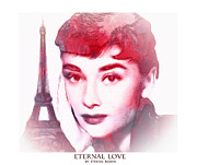 Audrey Hepburn Framed Prints - Eternal Love Framed Print by Stefan Kuhn