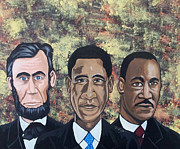 Obama Paintings - Eternally Connected by Donald Lyons