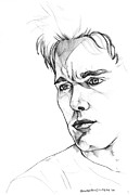 Actors Drawings - Ethan Hawke by John Ashton Golden
