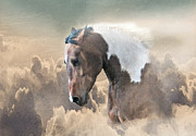 Cowboy Digital Art Framed Prints - Ethereal Paint Horse Power Framed Print by Renee Forth Fukumoto