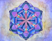 Throat Chakra Framed Prints - Ethereal Voice Mandala Framed Print by Holly Burger