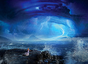 Blue Water Art - Etherstorm by Philip Straub