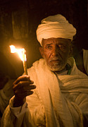 Kobby Dagan Metal Prints - Ethiopian holy fire ceremony Metal Print by Kobby Dagan