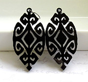 Large Earrings Jewelry - Ethnic Design Earrings by Rony Bank