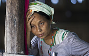 David Longstreath Metal Prints - Ethnic Karen Mother Metal Print by David Longstreath