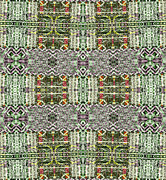 Black White Tapestries - Textiles Prints - Ethno004 Print by Gr Disegni