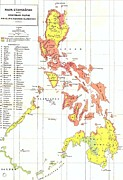 Philippines Drawings - Ethnographic Map Philippines by Reproduction