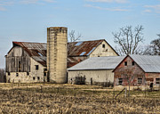 Amish Community Prints - Ethridge Tennessee Amish Barn Print by Kathy Clark
