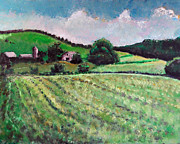Farm Fields Painting Originals - Etowah Farm by Tebbe Davis
