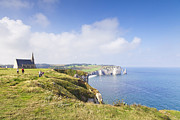 Cliffs Posters - Etretat Poster by Colin and Linda McKie