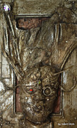 Science Fiction Reliefs Metal Prints - EUCH A-man Metal Print by Robert Shinn