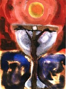Christian Sacred Metal Prints - Eucharist Metal Print by Daniel Bonnell