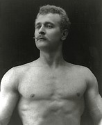 Erotic Nude Male Prints - Eugen Sandow Print by American Photographer