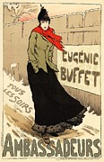 1900 Digital Art Prints - Eugenie Buffet Tous les Soirs Print by Sanely Great