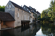 Eure Metal Prints - Eure river and old fulling mills in Chartres Metal Print by RicardMN Photography