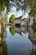 Old Mills Prints - Eure river in Chartres Print by RicardMN Photography