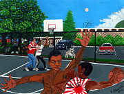 1980s Paintings - Eureka Park Throwback by Edward Fuller