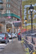 Lightposts Prints - Eureka Springs Print by Tony  Colvin