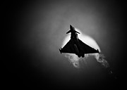 Duotone Framed Prints - Eurofighter Typhoon Framed Print by Rastislav Margus