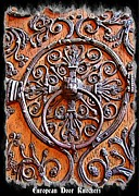 Old Objects Digital Art Posters - European Door Knockers Poster by John Malone