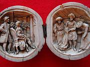Carving Sculptures - European ivory carving in shape of a ball with interior carved on two parts.  by Anonymous