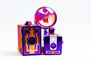 Camera Digital Art - European Travelers Mother And Daughter Cameras Abstract by Andee Photography
