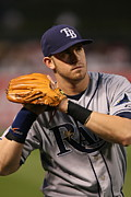 Tampa Bay Prints - Evan Longoria Print by Sanely Great