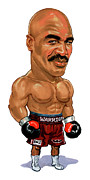 Super Real Prints - Evander Holyfield Print by Art