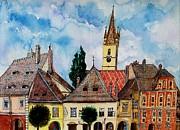 Ion vincent DAnu - Evangelical Church Tower from Sibiu Transylvania
