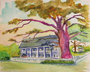 Longfellow Paintings - Evangeline House by Jacqueline Juge